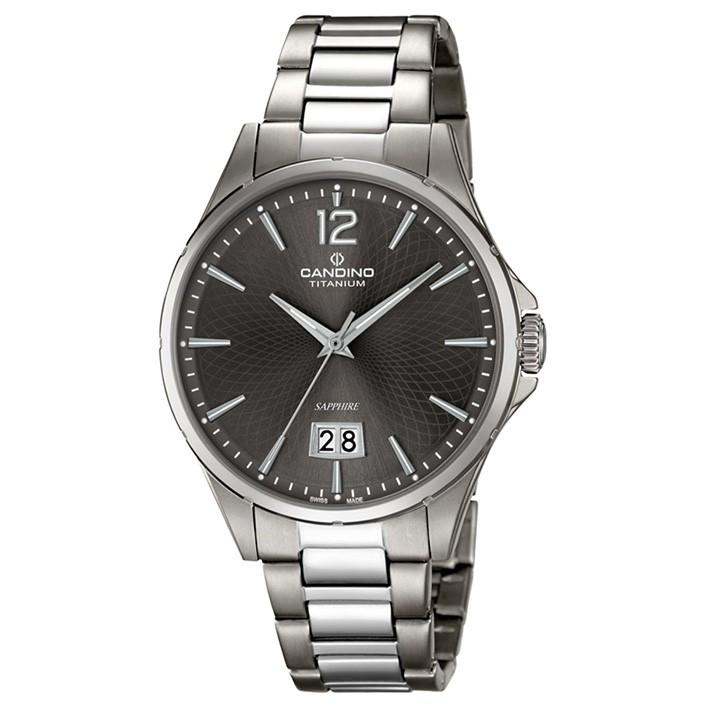 Candino Titanium Men s Watch C4607 3 dial gray sapphire crystal date  indicator 346f1c3b4ba