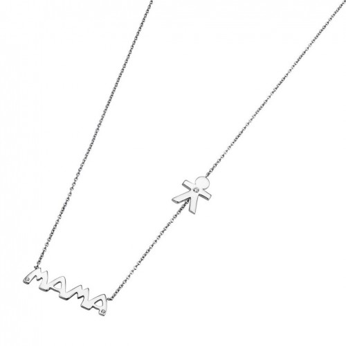 Lotus Silver Necklace Mama made in sterling silver and zirconia LP1239-1/2