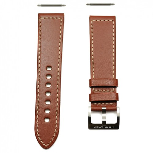 Hamilton Khaki brown leather strap 22/20mm H600.705.106