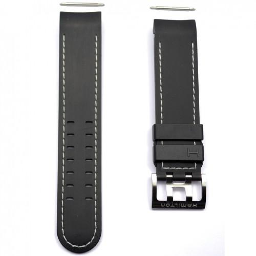 Black rubber strap watch Hamilton Khaki X-Wind auto. H600776106