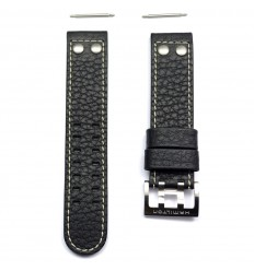 Black Leather strap Band Watch Hamilton Khaki X Wind Auto 22mm H600.776.116