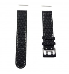 Hamilton Khaki Field rubber strap with buckle black titanium H600.705.113