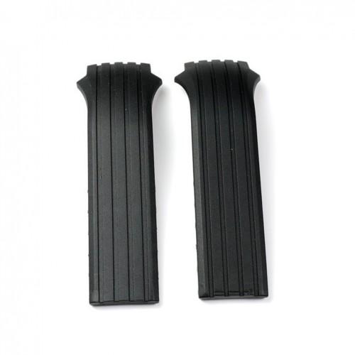 Lotus Shiny Black Rubber Strap 15317 15318 BC04145