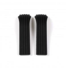 Lotus Shiny Black Rubber Strap 15336 BC04897