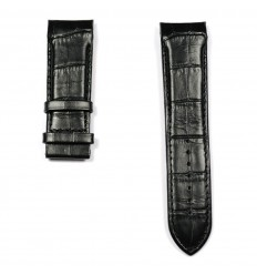 Black calf leather strap for Tissot Couturier Automatic T610028592.