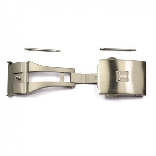 brushed titanium folding buckle for belts Tissot T640015936