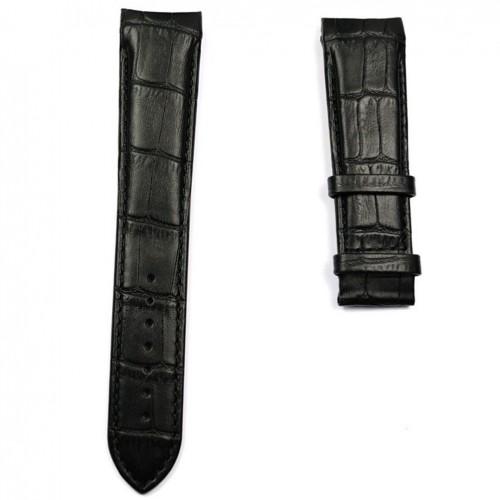Black leather strap XL size Tissot Couturier quartz chronograph T610028583