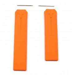 Orange Rubber Strap Tissot T-Touch T610014615 Z252 / Z253