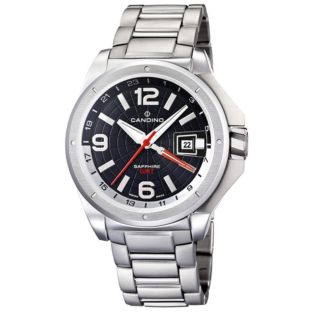07fee2daee10 Candino watch Planet Solar GMT date dial black dial C4451 C