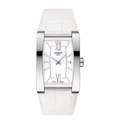 Generosi-T Tissot watch woman T1053091601800 steel white leather strap