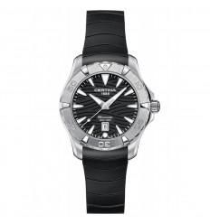 Certina DS Action Women's Rubber Black Dial Watch C0322511705100
