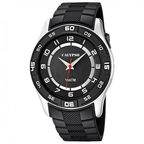 Calypso K6062/4 watch Black dial 47 mm diameter
