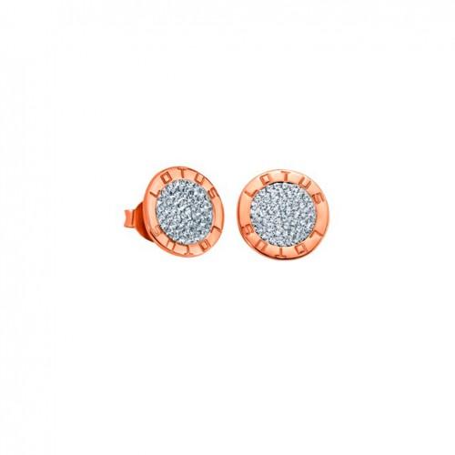 Lotus Silver Hidra earrings LP1252-4/3 Swarovski crystals pink gold