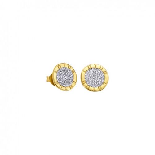 Lotus Silver Hidra earrings LP1252-4/2 Swarovski crystals gold plated