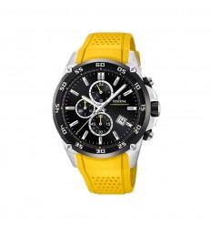 Festina Chrono F20330/3 The Originals Watch yellow silicone strap