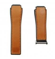 TAG Heuer Conne light brown calfskin strap black rubber lining 1FT6110