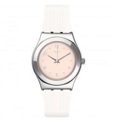 Swatch Irony Medium Blusharound YLS199 Light orange dial white strap