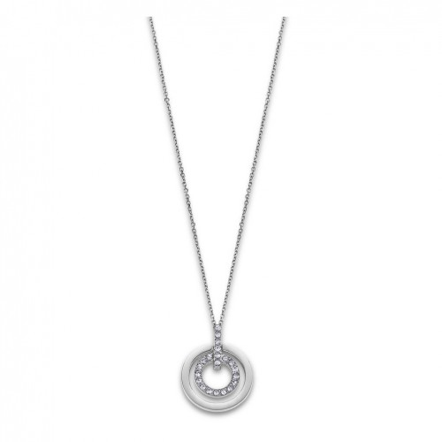 Necklace for Women Lotus Style LS1868-1/1 stainless steel Two circles