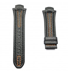 Black leather strap stitching orange Lotus Code Man 15502 and 15507
