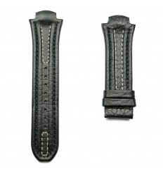 Black leather strap stitching white Lotus Code Man 15502 and 15507