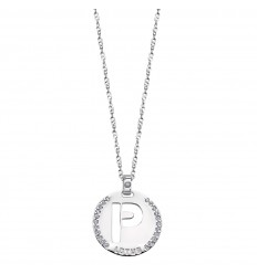 2e18de9145ee Lotus Silver Colgante en plata letra P pulida con circonitas LP1597-1 P