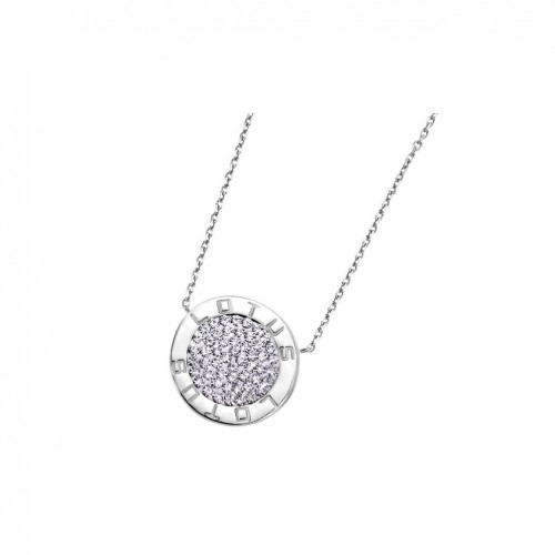 Lotus Silver Pendant in sterling silver and circular LP1252-1/1