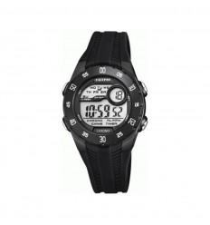 Reloj Calypso Digital Crush K5744 6 caja negra y correa caucho negra cabedd82d4c