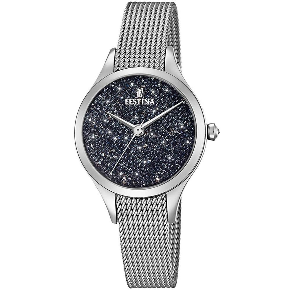 Diacrítico cobertura triste  Reloj Festina Mademoiselle F20336/3 acero cristales Swarovski negros