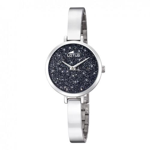 638b9a6b2371 Reloj Lotus Bliss mujer esfera negra cristales Swarovski 18561 2
