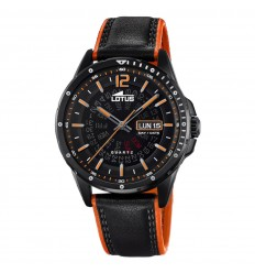 Lotus Smart Casual watch man 18525/1 black and orange