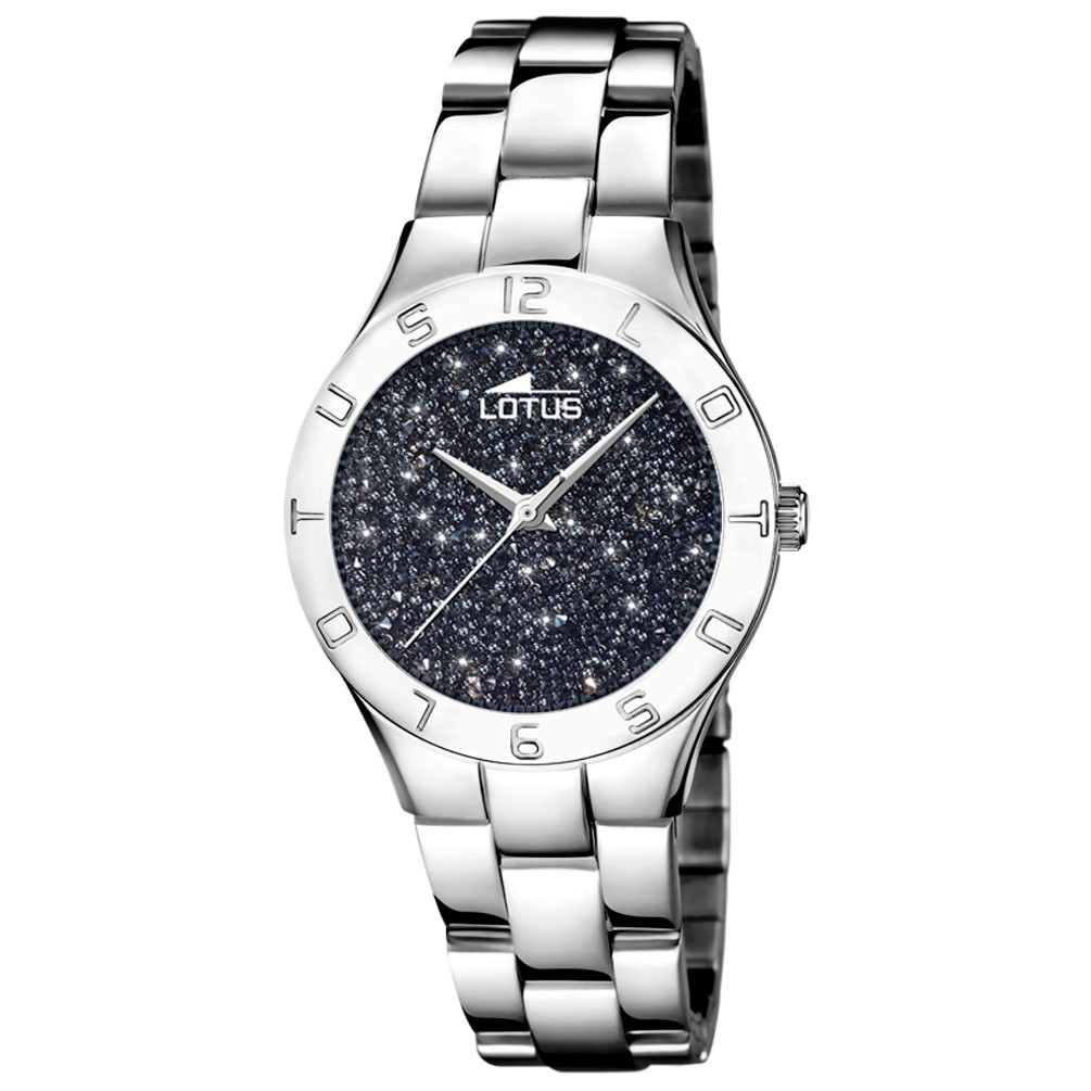 0b19278722da Reloj Lotus Bliss mujer esfera negra cristales Swarovski 18568 4