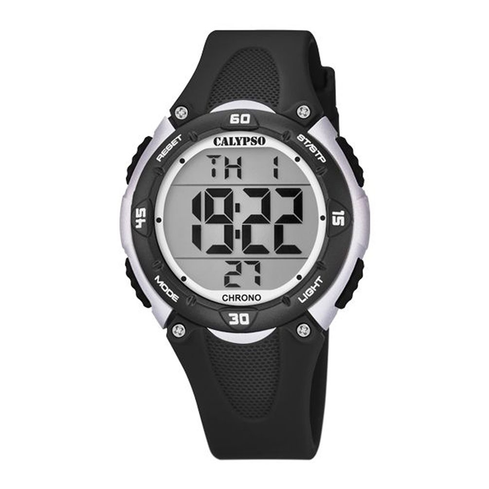 091230087cef Reloj Calypso Digital Crush K5741 4 Esfera gris correa caucho