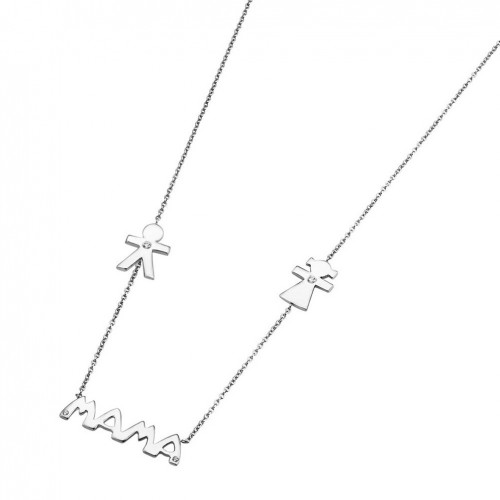 Lotus Silver Necklace Mama made in sterling silver LP1239-1/3