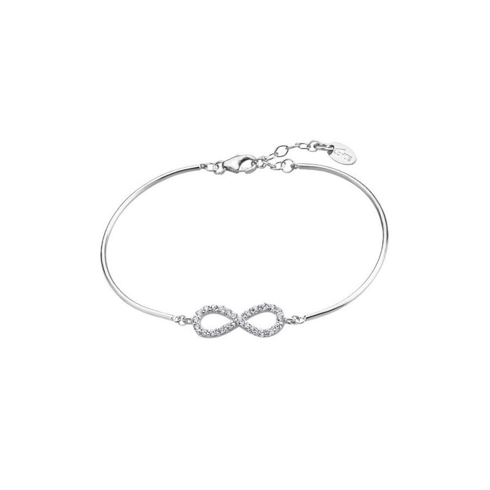 Lotus Silver Trendy Bracelet Sterling Silver Infinity Symbol Lp1253 21