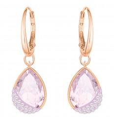 Swarovski Heap Pear earrings 5351136 violet rose gold plating