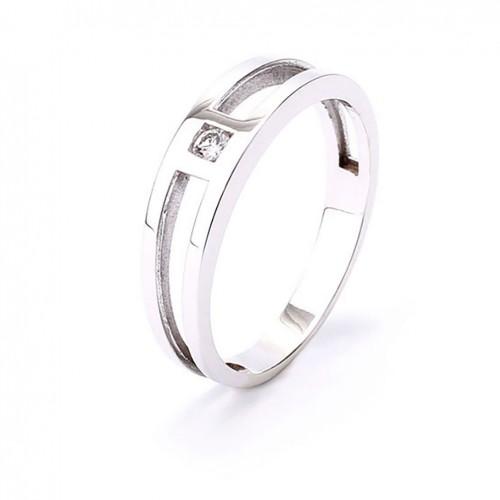 White Gold Ring 18 carat with 1 diamond 0.05 carat