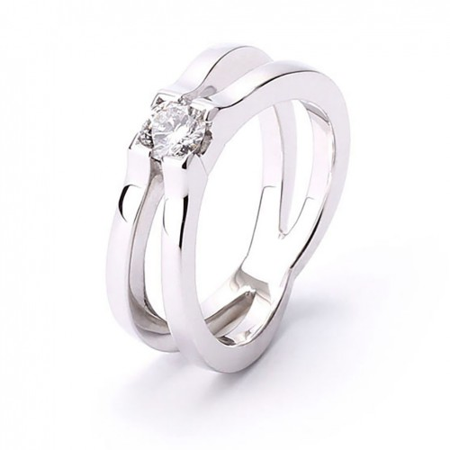 Ring white gold and diamond A4258