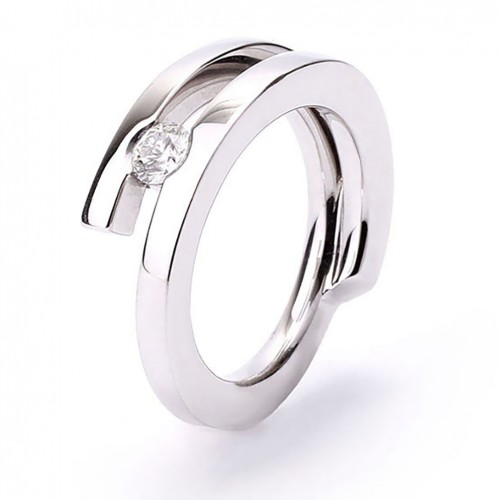 Ring white gold and diamond A4425