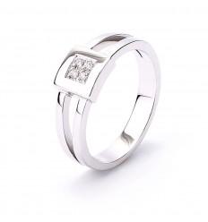Ring 4 diamonds white gold 18 carat engagement