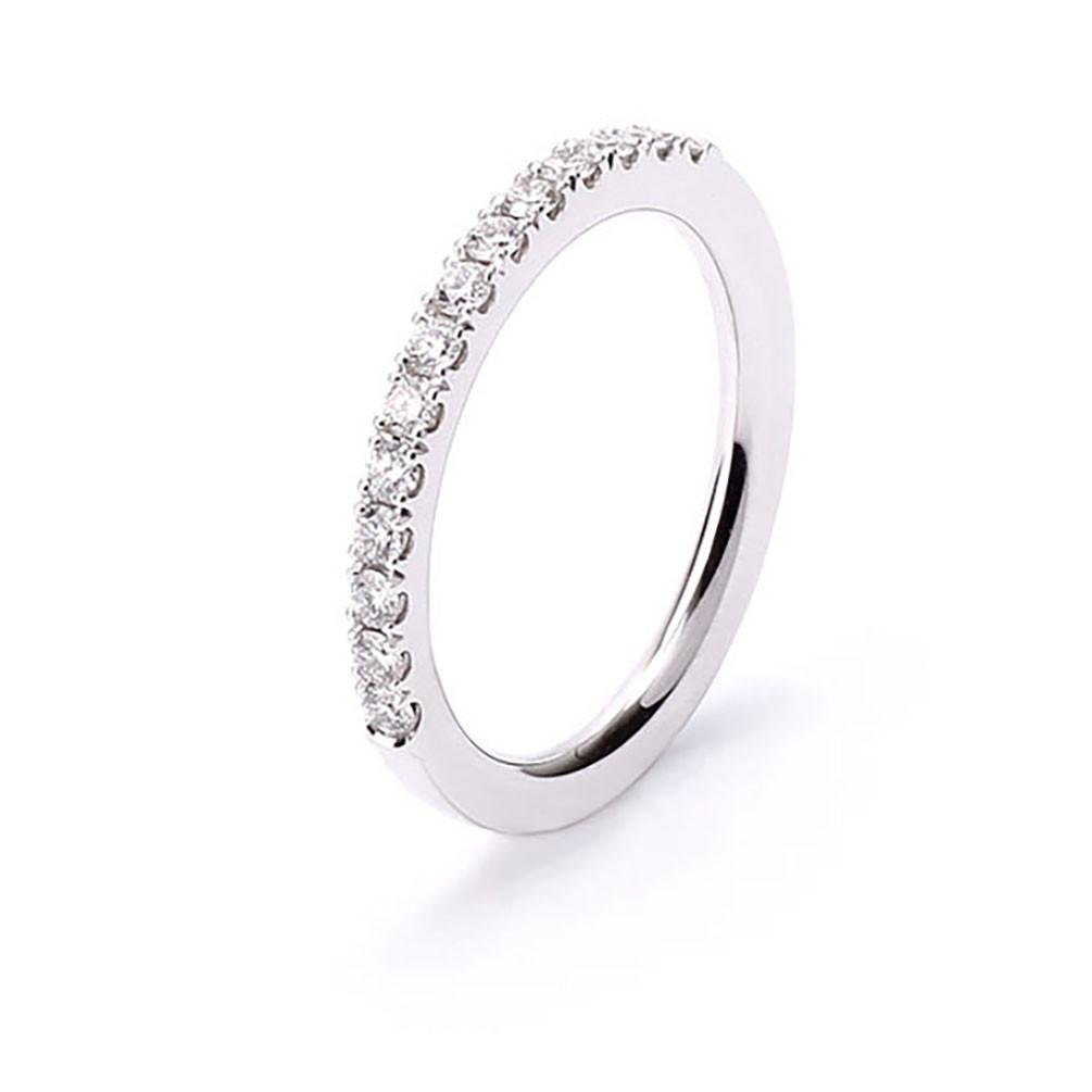 993ccab3b140 Anillo oro blanco 18 quilates con 14 diamantes talla brillante
