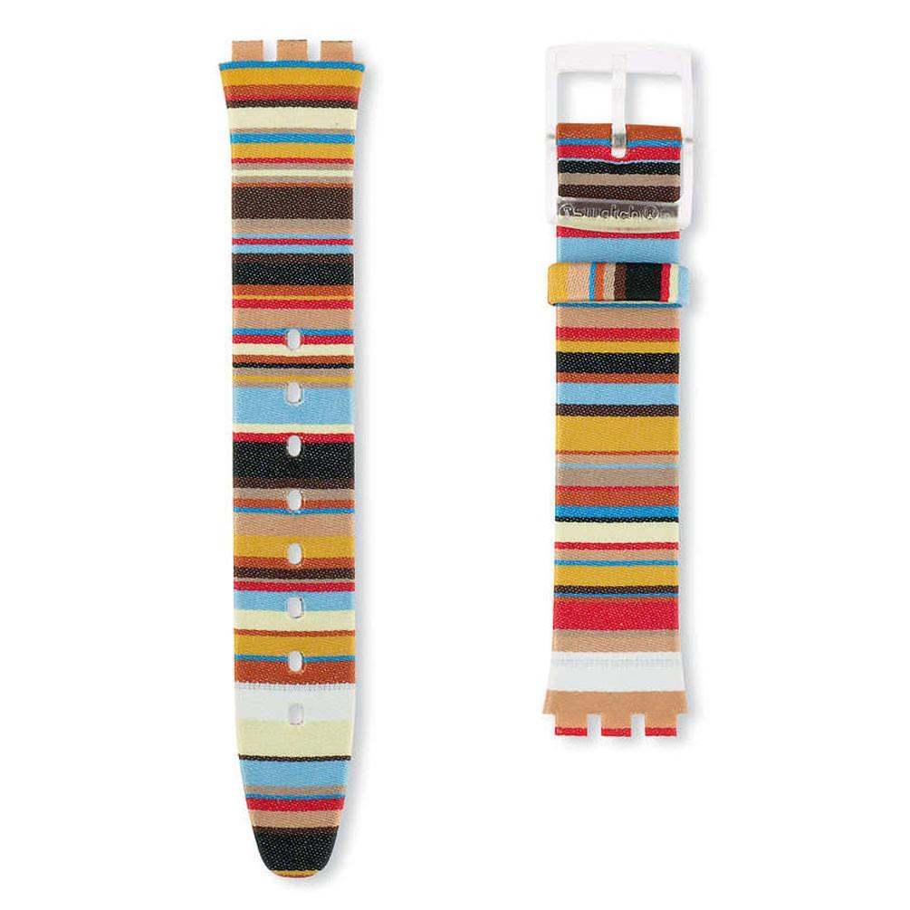 comprar popular imágenes detalladas navegar por las últimas colecciones Correa piel reloj Swatch Skin Mille Linie multicolor ASFK140 16mm