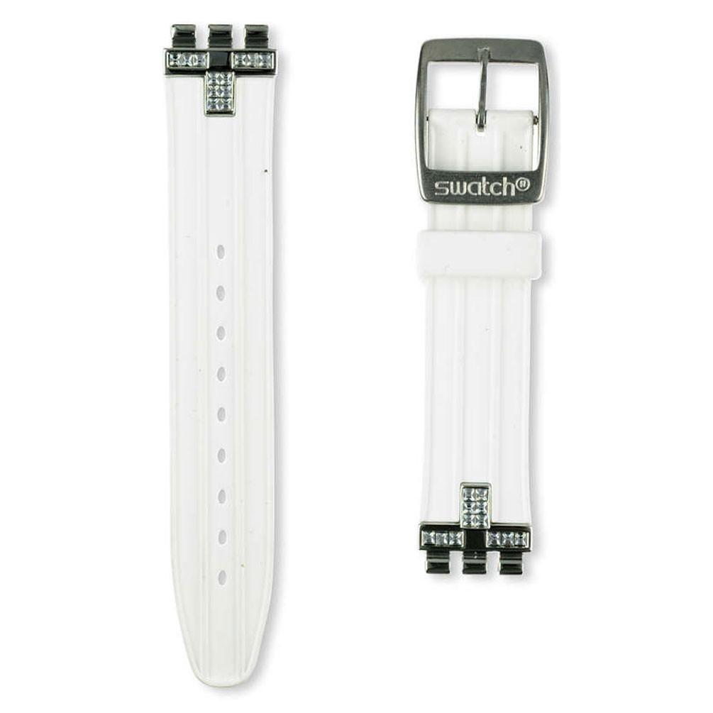 comprar genuino mejor selección de 2019 envío complementario Correa caucho blanca reloj Swatch Irony Medium Fancy Me AYLS430 17mm