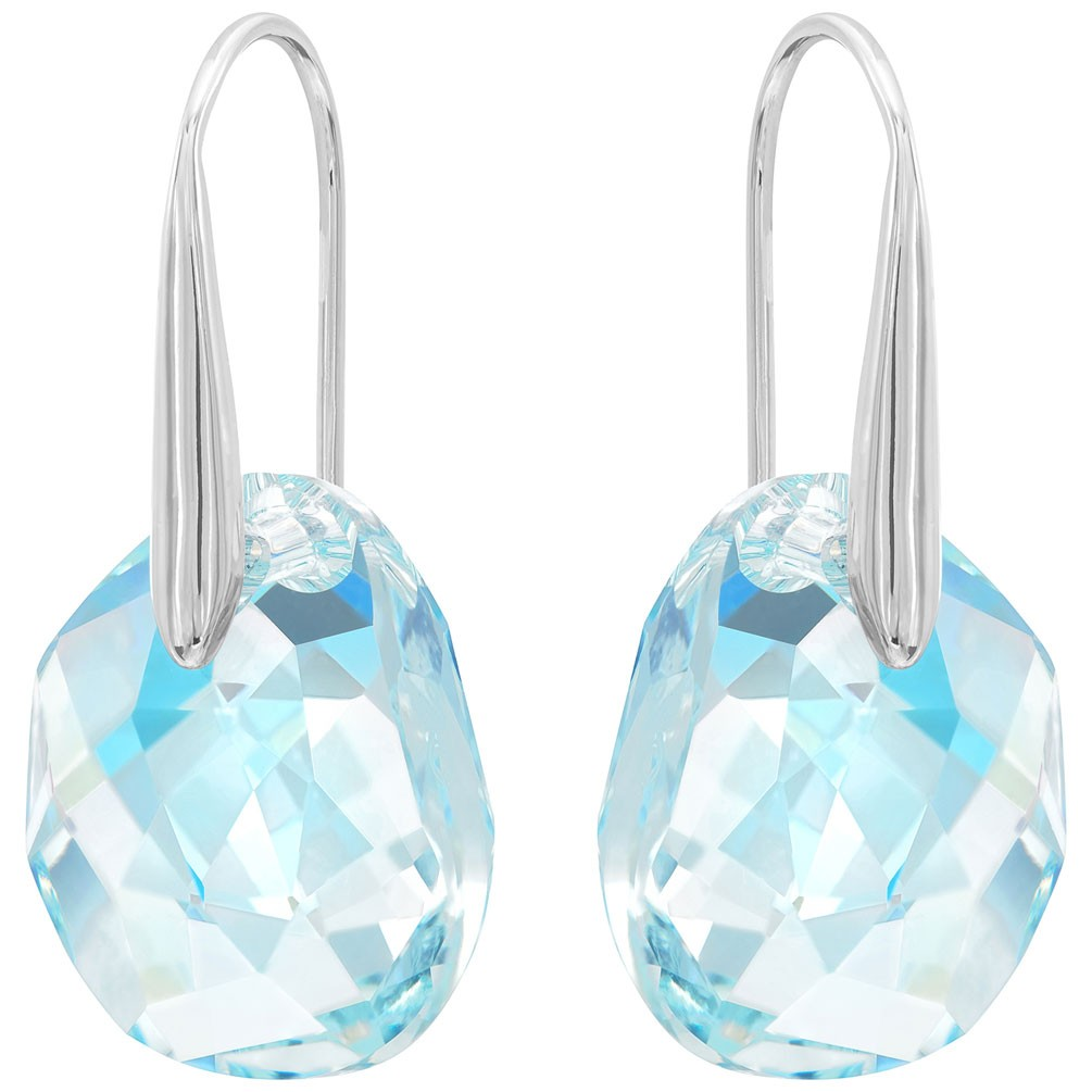 capacidad Podrido Amante  Arracades Swarovski Galet gota cristall blava bany de rodi 949740