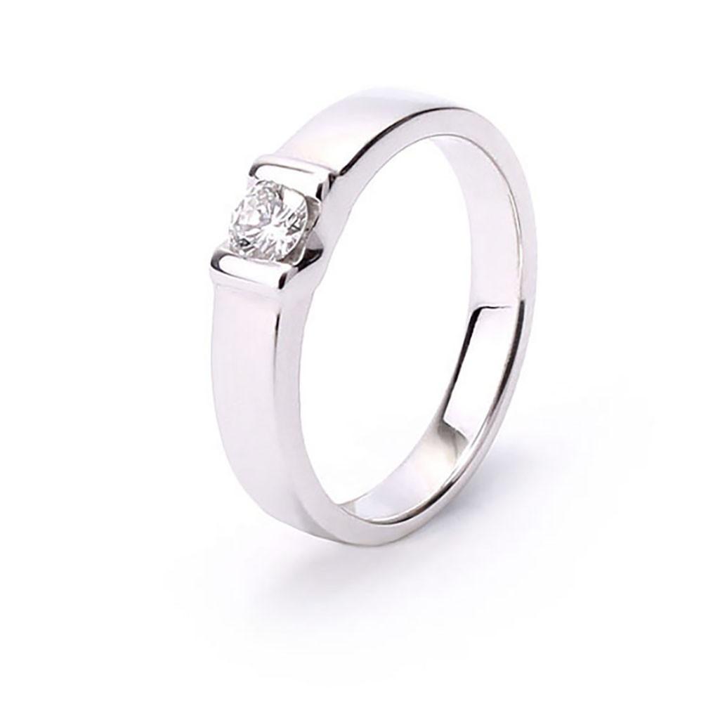 df45707f4c70 Anillo compromiso diamante 0.16 quilates oro blanco 18 quilates