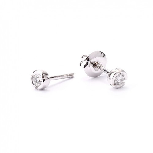 Earrings white gold and diamonds R3037