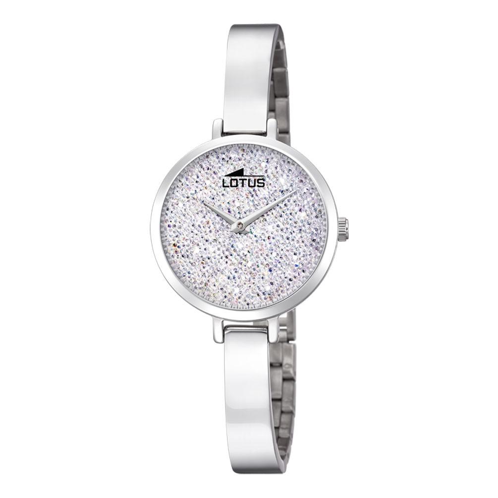 bcf7e21d9259 Reloj Lotus Bliss mujer esfera blanca cristales Swarovski 18561 1