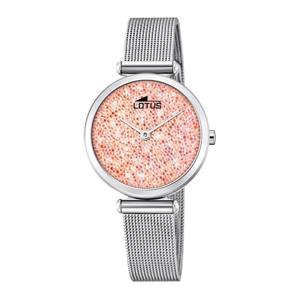 Reloj Cristales Mujer 185644 Rosa Swarovski Bliss Lotus Esfera doerxCB
