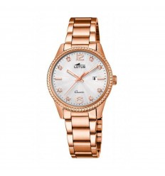 Lotus Minimalist watch women 18303/3 pink gold steel silver dial