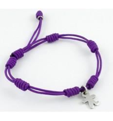 Bracelet silver knots lilac child Inson BR504IN02