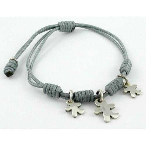 Bracelet knots silver grey Inson children BR507IN04